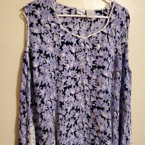 Vintage | Blue Pleated Full Dress